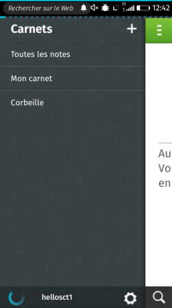 Appli Notes sur Firefox OS – synchronisation avec notes Evernote