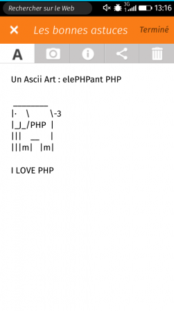 Appli Notes sur Firefox OS – Art ASCII