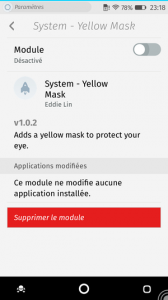 Firefox OS : add-ons : Yellow Mask off
