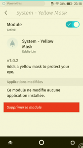 Firefox OS : add-ons : Yellow Mask on