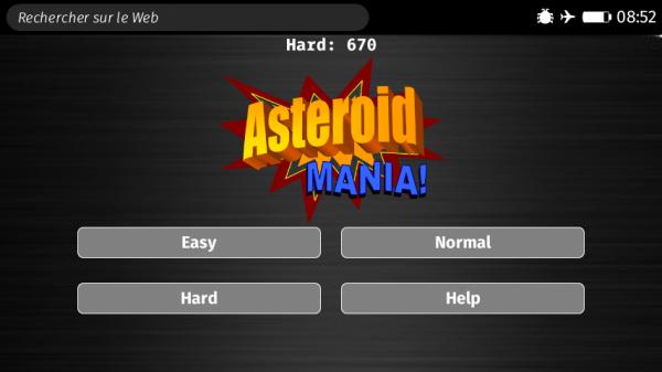 Asteroid Mania : niveaux