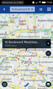 Here Maps : trafic sur Paris