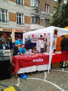 Braderie Lille 2014 : Mozilla sur le stand Chtinux