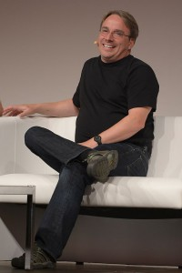 Linus Torvalds au LinuxCon Europe