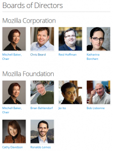 Mozilla Leadership : boards